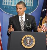 Obama at lecturn