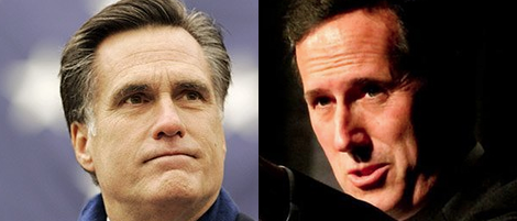 Romney Santorum